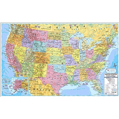 Kappa Map Group Universal Maps US World Politcal Rolled Map Set