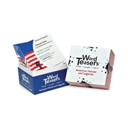 """Word Teasers® 3"""" x 3"""" American Heroes and Legends Flash Card, Grades 5 - 12, 150/Pack"""