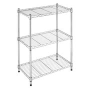 Whitmor, Inc Supreme Small 3 Tier 29.9'' Three Shelf Shelving Unit; Chrome