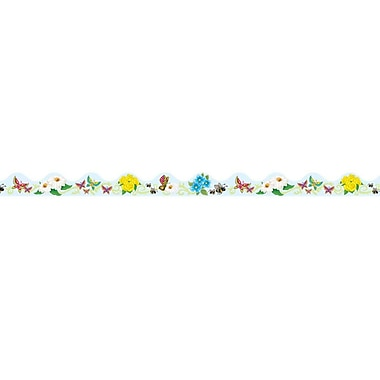 Butterflies & Flowers Border Trim, 37' Total, 4/Pack