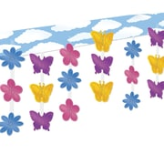 """Beistle 12"""" x 12' Butterfly Flower Ceiling Decor, 2/Pack"""