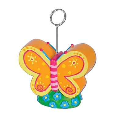 Beistle 6 oz. Butterfly Photo/Balloon Holder, 3/Pack