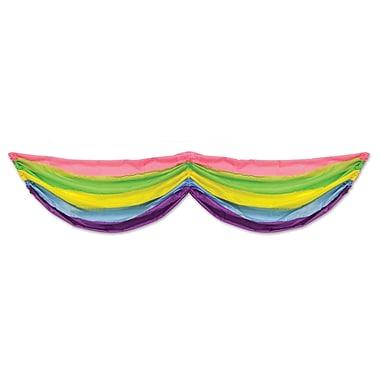 Spring Rainbow Fabric Bunting, 5' 10