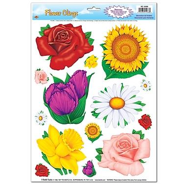 Fleurs adhérentes, feuille de 12 po x 17 po, paq./7