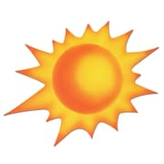 "Beistle 24"" Sun Cutouts, 5/Pack"