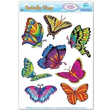Papillons adhérents, feuille de 12 po x 17 po, paq./7