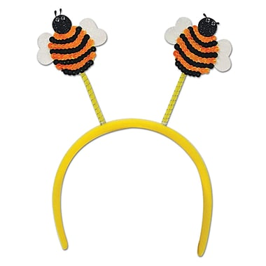 Beistle Adjustable Sequined Bumblebee Boppers, Yellow