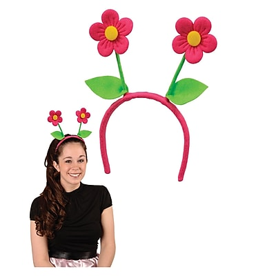 Beistle Adjustable Flower Boppers, Pink/Green
