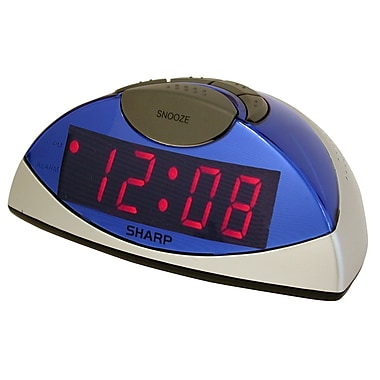 MZ Berger SPC020KF Plastic Digital Table Clock, Blue/Silver