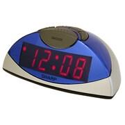 MZ Berger SPC020KF Plastic Digital Table Clock, Blue/Silver