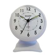 MZB SPC820B Sharp Quartz Analog Alarm Clock, White