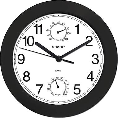 MZ Berger SPC956 Plastic Analog Wall Clock, Black