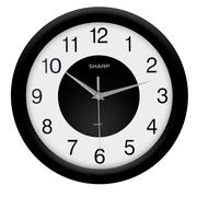 MZ Berger SPC959 Plastic Analog Wall Clock, Black
