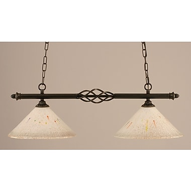 Toltec Lighting Elegant 2-Light Kitchen Island Pendant