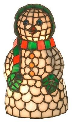 Meyda Tiffany Snow Woman Accent Table Lamp