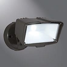 Cooper Lighting Large Head LED Flood Light; Bronze