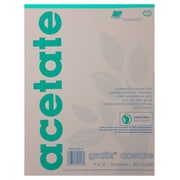 Grafix Acetate Film Sheets (Set of 25); 12'' x 9'' (0.005)