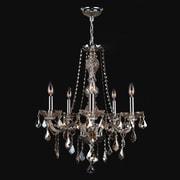 Worldwide Lighting Provence 5-Light Crystal Chandelier; Golden Teak