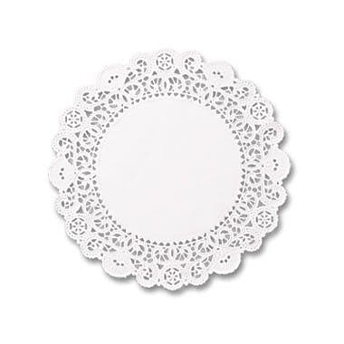 HOFFMASTER 5'' Round Brooklace Lace Doilies in White