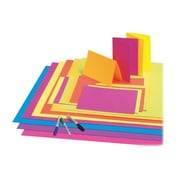 Pacon Creative Products Premium Neon Poster Board (25 Per card); Neon Red