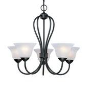 Millennium Lighting Main Street 5-Light Shaded Chandelier; Black