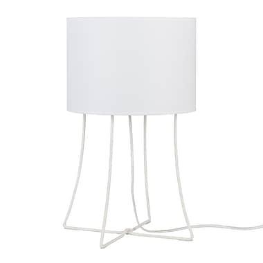 Lights Up! Virgil 21'' Table Lamp; White Linen