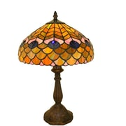 Warehouse of Tiffany Peacock 18'' Table Lamp