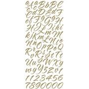 Sticko Alphabet Brush Stroke Sticker; Gold