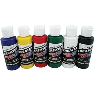 Createx Colors 2 oz Primary Airbrush Paint Set