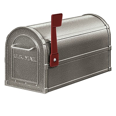 Salsbury Industries Post Mounted Mailbox; Pewter