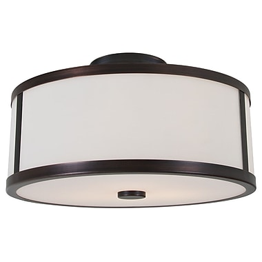 DVI Uptown 3-Light Semi Flush Mount; Oil Rubbed Bronze