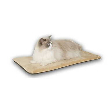 K&H Manufacturing Heated-Kitty Mat Cat Bed; Sage