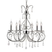 TransGlobe Lighting Chic Nouveau 6-Light Crystal Chandelier
