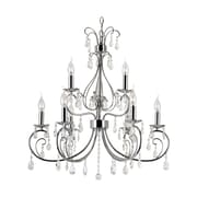 TransGlobe Lighting Chic Nouveau 9-Light Crystal Chandelier