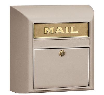 Salsbury Industries Locking Wall Mounted Mailbox; Beige