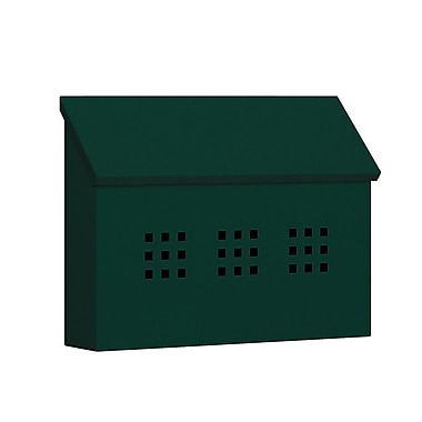 Salsbury Industries Wall Mounted Mailbox; Green