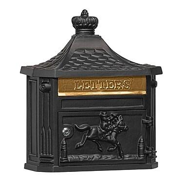 Salsbury Industries Locking Wall Mounted Mailbox; Black