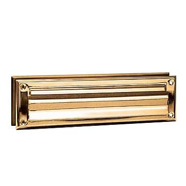 Salsbury Industries 13 in x 3.5 in Brass Mail Slot; Brass