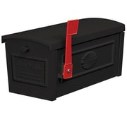 Salsbury Industries Post Mounted Mailbox; Black