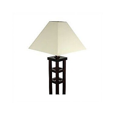 Oriental Furniture Mosko 62'' Floor Lamp; Black