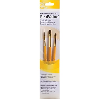 Princeton Artist Brush RealValue Natural Camel Brushes (Set of 3)