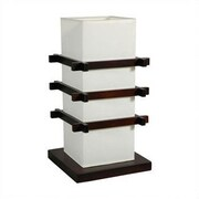 Oriental Furniture Ido 17'' Table Lamp; Black