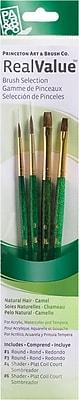 Princeton Artist Brush RealValue Natural Camel Brushes (Set of 4)