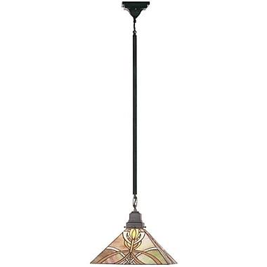Meyda Tiffany Mission 1 Light Bungalow Pendant; 48'' H x 13'' W x 13'' D