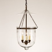 JVI Designs 3-Light Medium Bell Jar Foyer Pendant w/ Star Glass; Oil Rubbed Bronze