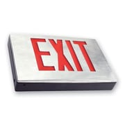 Barron Lighting Die Cast Red LED Exit Sign in Black
