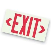 Barron Lighting Photoluminescent Unframed LED Exit Sign