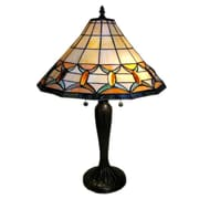 Warehouse of Tiffany Jeweled 25'' Table Lamp