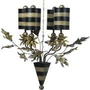 Flambeau Lighting Audubon 4-Light Shaded Chandelier; Putty/Black