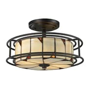 Dale Tiffany Woodbury 2-Light Semi-Flush Mount
